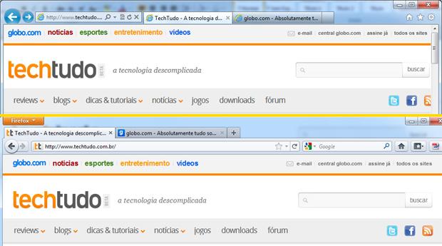 Comparando as interfaces (Foto: Reprodução/Daniele Monteiro)
