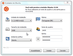 Instalador do Ubuntu no Windows (Foto: Reprodução/Paulo Higa)