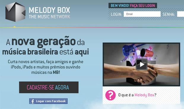 Rede social Melody Box divulga o trabalho dos artistas e prêmia os fãs pela divulgação (Foto: Reprodução)