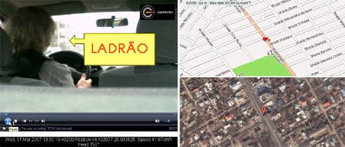 Muitos ladrões são presos após o rastreamento do carro (Foto: NaviGadget)