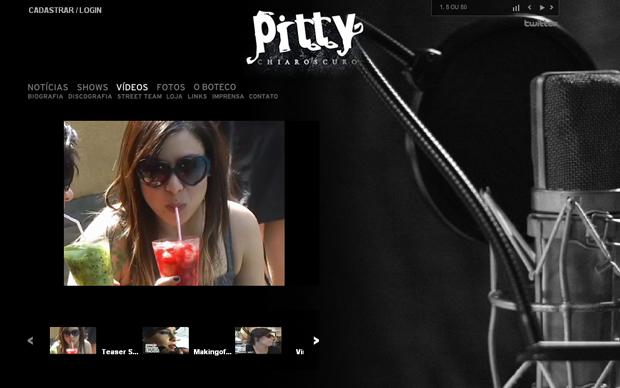 Site oficial da Pitty (Foto: Reprodução)