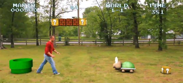 Uma partida de Super Mario Bros. no mundo real provavelmente seria assim (Foto: Reprodução)