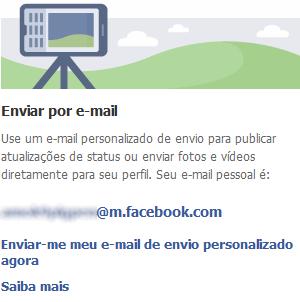 E-mail pessoal do Facebook (Foto: Reprodução)