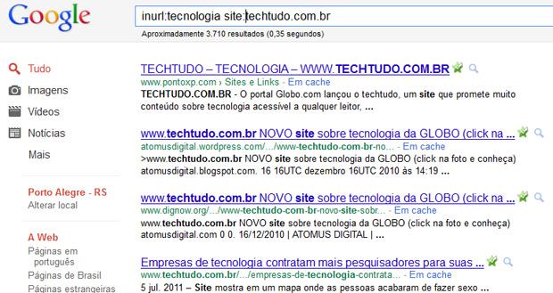 Busca por comandos no Google (Foto: Reprodução/Teresa Furtado)