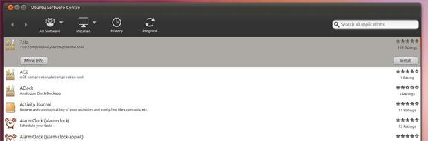 """Tela de """"Acessories"""" (Foto: Reprodução/OMG Ubuntu)"""