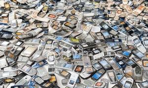 Celulares para reciclagem (Foto: Reprodução)