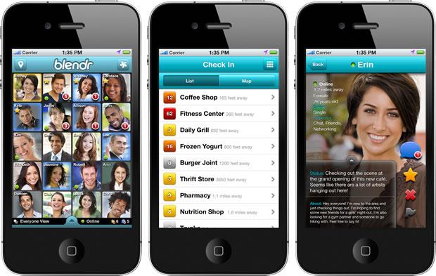 Telas do Blendr para iPhone (Foto: Reprodução)