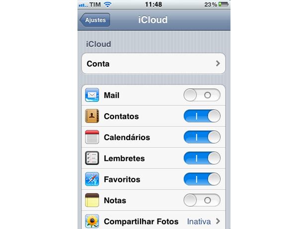 iCloud (Foto: Reprodução/TechTudo)