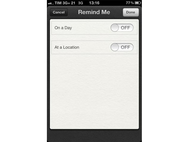 Lembrete por localização no iPhone 4 (Foto: Reprodução/TechTudo)