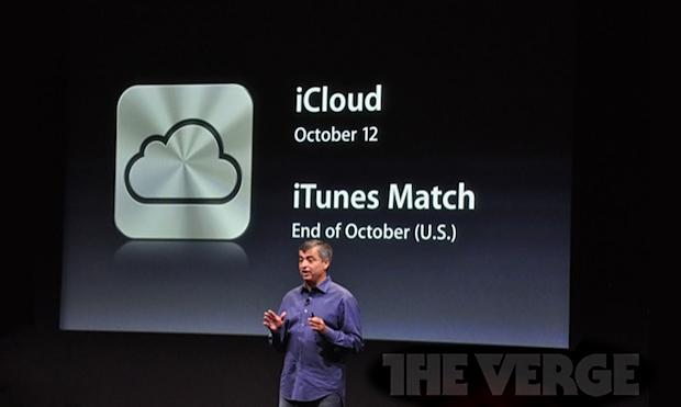 Anúncio do iTunes Match com previsão de lançamento para o fim de outubro (Foto: Reprodução/The Verge)
