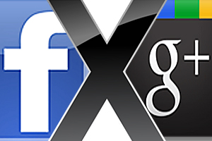 Facebook X Google+ (Foto: TechTudo)