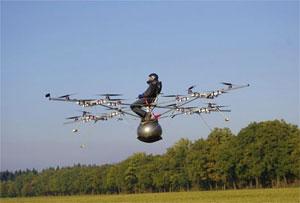 Multicóptero elétrico (Foto: Divulgação)