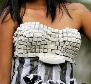 Vestido de teclado (Foto: Divulgação)
