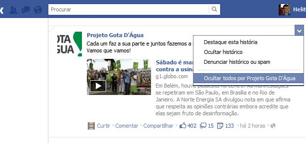 Bloquear páginas no facebook (Foto: Divulgação)