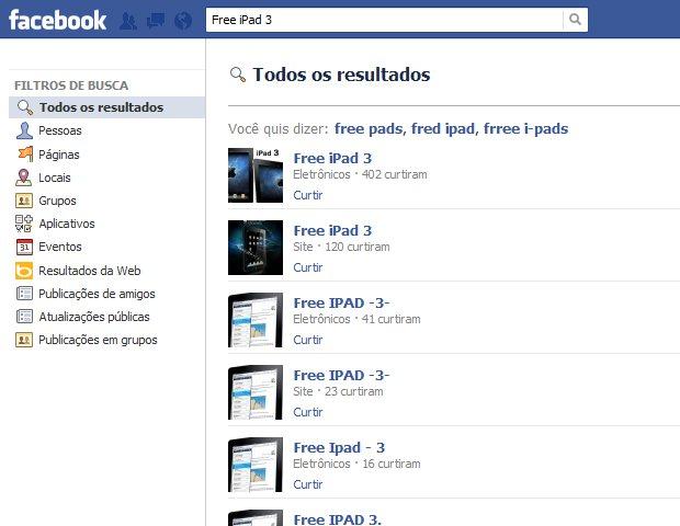 Facebook permite páginas com o golpe (Foto: Reprodução/Bruno do Amaral) (Foto: Facebook permite páginas com o golpe (Foto: Reprodução/Bruno do Amaral))