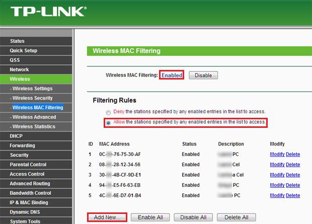Opções de rede sem fio do roteador TP-Link (Foto: Reprodução/Ramon Cardoso)