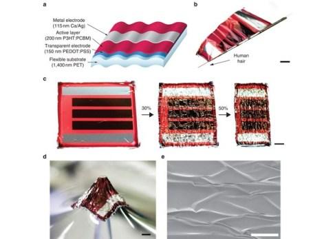 Célula de captação solar é 20 vezes mais fina que um fio de cabelo (Foto: Reprodução)
