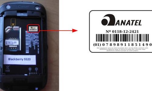 Aparelho com o selo da Anatel que comprova a sua homologação (Foto: Reprodução)