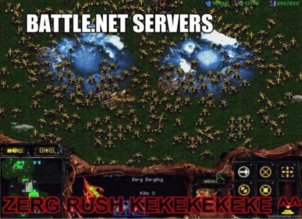 Zerg Rush é um termo bem comum entre jogadores de Starcraft. Não sabe o que significa? Digite no Google. Vale a pena. (Foto: VentureBeat)