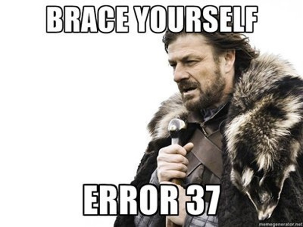 """Há algo pior do que o inverno de Game of Thrones: """"Prepare-se. Error 37"""" (Foto: IGN)"""