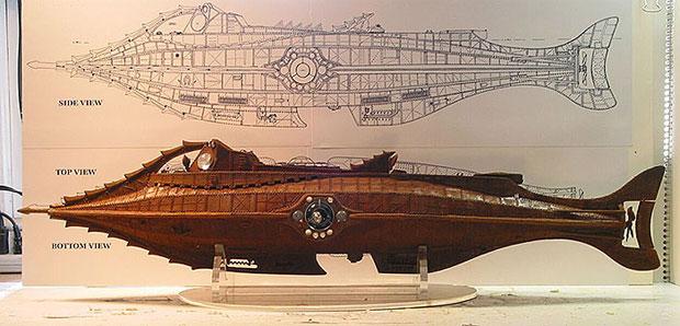 Seguindo as descrições e desenhos de Verne, se tivesse existido, esse seria o Nautilus (Foto: Reprodução)