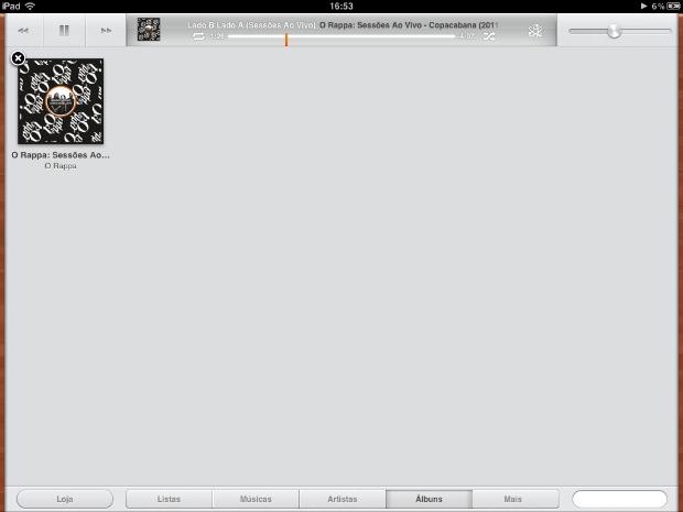 iPad tem processo diferente para apagar álbum (Foto: Reprodução)