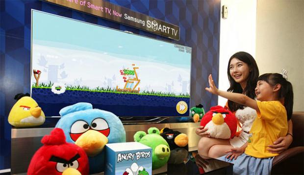 Angry Birds chega a Smart TV da Samsung com sensor de movimento (Foto: Divulgação)