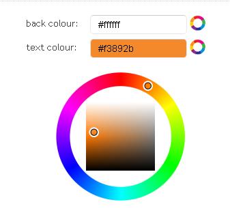 Escolhendo as cores do cartaz (Foto: Reprodução)
