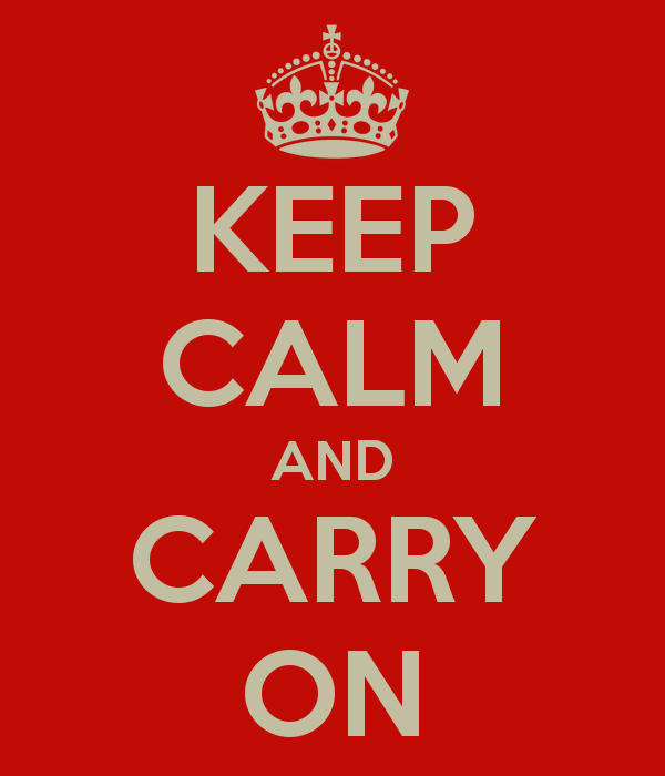 "O cartaz original ""Keep calm and carry on"" (Foto: Reprodução)"
