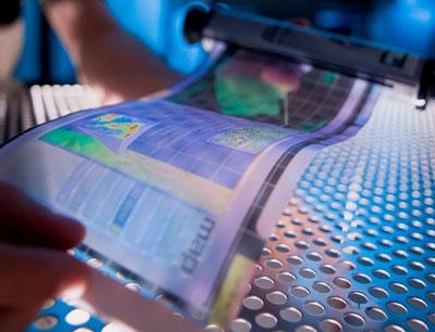 Telas eletrônicas finas e flexíveis como papel estão chegando em breve (Foto: Reprodução/Site Economist)