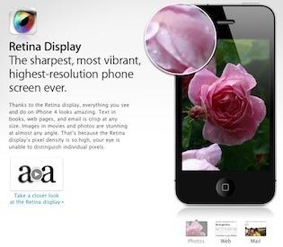 Retina Display da Apple é o que há de mais avançado em telas de smartphones (Foto: Reprodução)