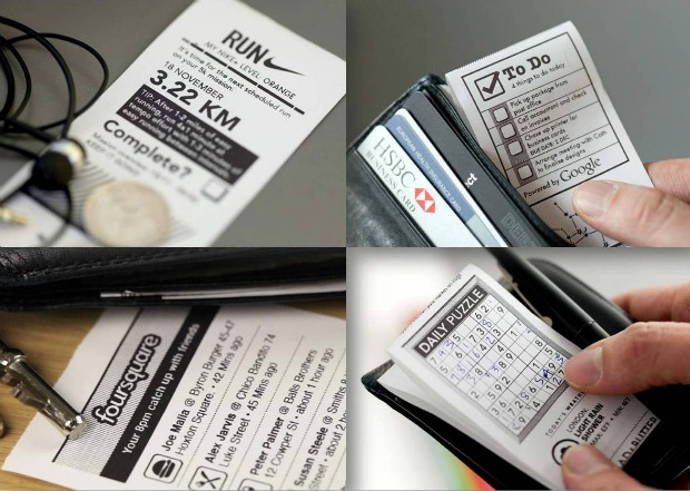 Algumas possibilidades de impressão da Little Printer (Foto: Divulgação)