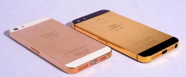 iPhone 5 de ouro é um produto de luxo e personalizado (Foto: Divulgação)