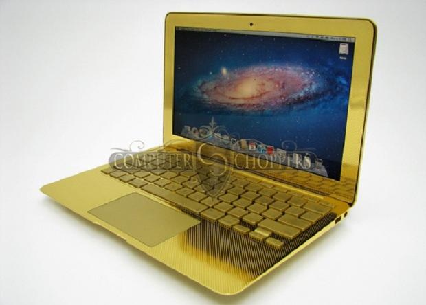 Macbook de ouro custa R$ 15 mil (Foto: Reprodução)