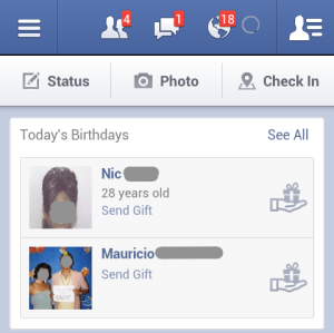 Facebook implementa ferramenta de presentes em seus aplicativos mobile (Foto: Reprodução/TechCrunch)