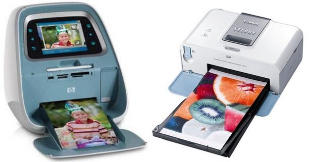 Impressoras fotográficas à jato de tinta HP e Canon (Foto: Reprodução)
