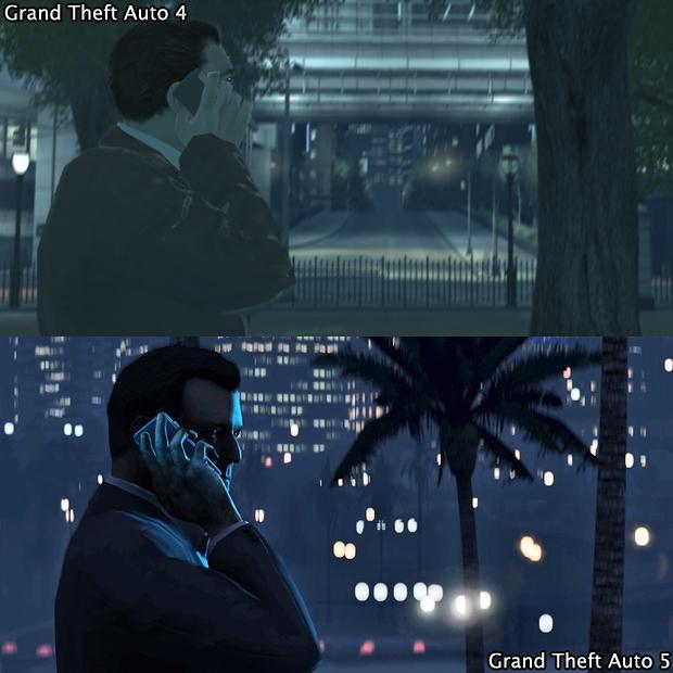 GTA 4 faz um telefonema para o futuro em GTA 5 (Foto: GamingBolt)