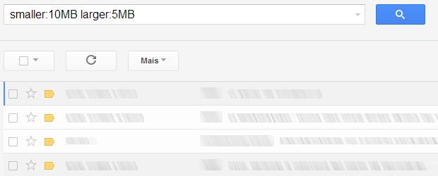 Pesquisando mensagens de um determinado tamanho no Gmail (Foto: Reprodução/Ricardo Fraga)