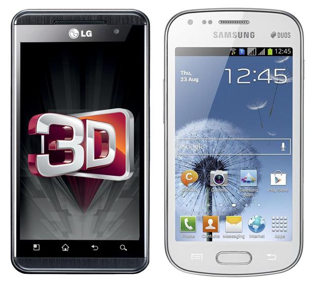 Optimus 3D e Galaxy S Duos (Foto: Divulgação)