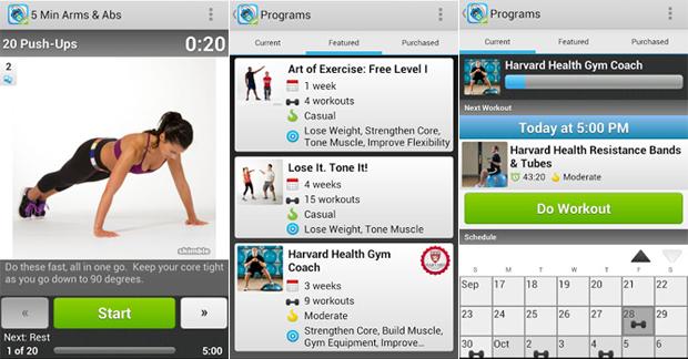 O Workout Trainer oferece séries de exercícios físicos (Foto: Divulgação)