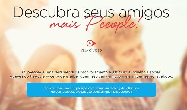 Ferramenta online cria ranking de popularidade no Facebook (Foto: Reprodução/Peeople)