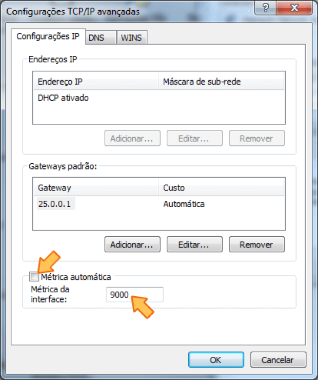 Configurações TCP/IP avançadas (Foto: Reprodução/Silas Tailer)