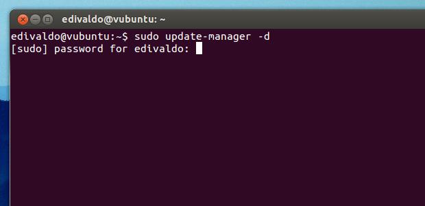 Executando o atualizador de programas a partir do terminal (Foto: Reprodução/Edivaldo Brito)