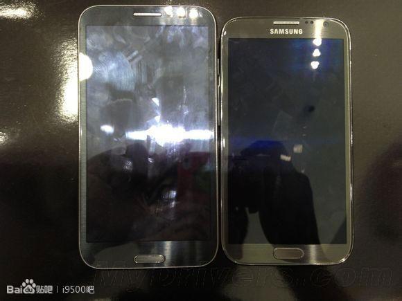 Suposto Galaxy Note 3 aparece ao lado do seu antecessor, o Galaxy Note 2 (Foto: Reprodução/AndroidAuthority)