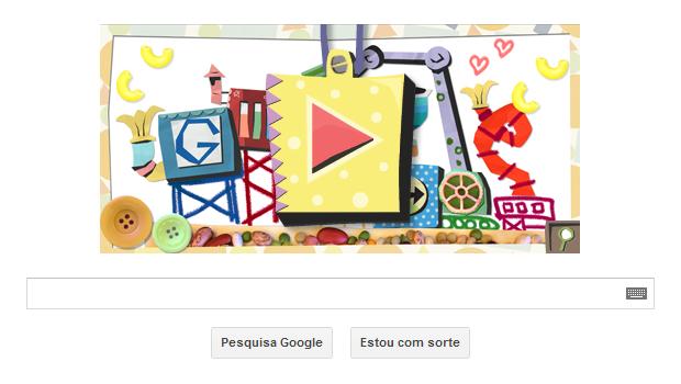 Dia das Mães é comemorado por Doodle do Google (Foto: Reprodução/Ricardo Fraga)
