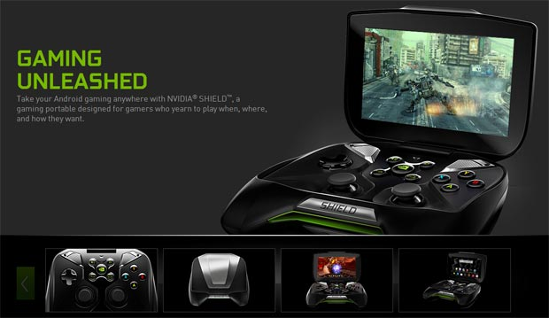 Nvidia Shield é um poderoso portátil que roda games de PC (Foto: Reprodução)