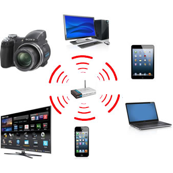Os roteadores wireless podem compartilhar a conexão com diversos aparelhos (Foto: Daniel Ribeiro)