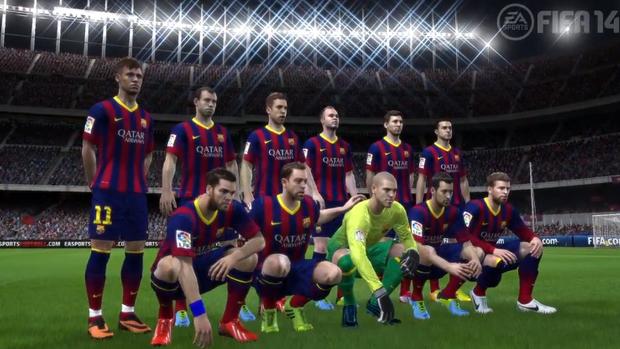 Neymar já aparece ao lado dos atletas do Barcelona no Fifa 14. (Fifa 14)