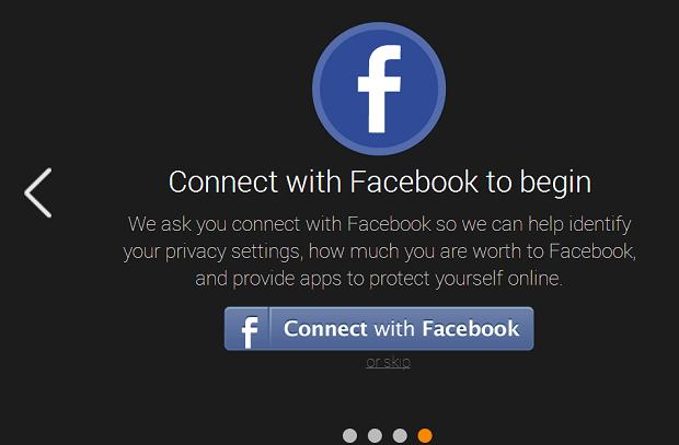 Faça login com dados do Facebook (Foto: Reprodução/Thiago Barros)
