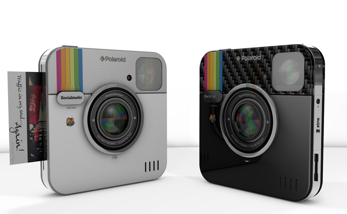 Nova câmera da Polaroid integra elementos sociais (foto: Reprodução/Socialmatic)